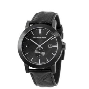BURBERRY Authentic Leather Strap Watch BU9906
